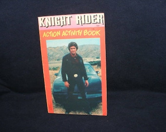 Knight Rider Book, Activity Book,  Puzzle Book, Maze Book, Vintage Books
