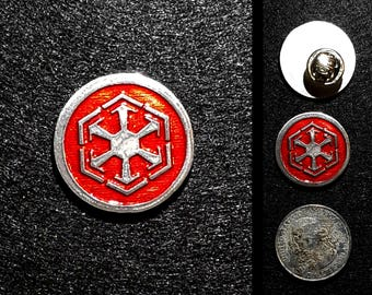 Handcast Pewter Sith Pin or Magnet