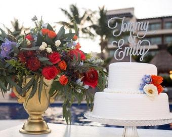 Custom Name & Name Wedding Cake Topper