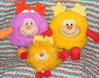 Lot Of 3 Vintage Rainbow Brite Sprites! 80's! Spark! Dee-Lite! Happy Talk Spark!