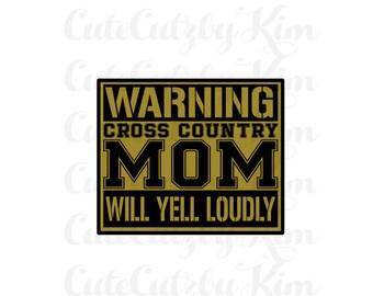 cross country mom svg
