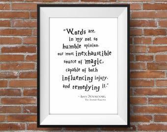 Dumbledore Quote,  Harry Potter Wall Art