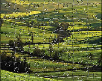 Tuscan Dawn Zen Puzzle - Hand crafted, eco-friendly, American made artisanal wooden jigsaw puzzle