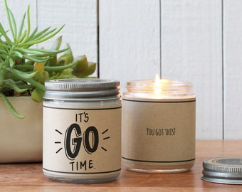 It's Go Time Soy Candle Gift | New Job Gift | Facing Challenge Gift | Encouragement Gift | Support Gift | Motivation Gift | Support Gift