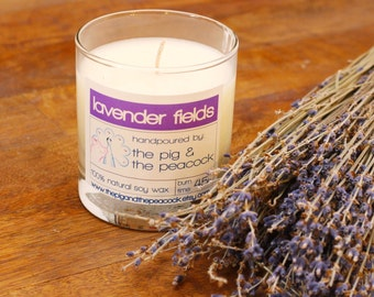 Soy Wax Candle - Lavender Pure Soy Wax Candle - 7.5 oz