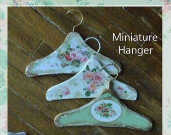 Miniature dress Hanger A-11, set of 3 hangers for dollhouse scale 1/6