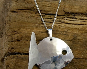 Sterling silver fish necklace sterling silver fish pendant fish pendant sterling silver fish necklace handmade fish jewellery animal jewellery aloadofball Image collections