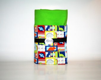 Dinosaur flannel baby blanket, dinos, baby boy, reversible blanket, baby shower gift, baby blanket, ready to ship, receiving blanket