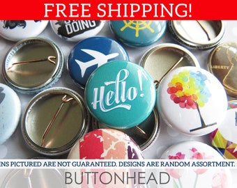 """Pinback Buttons Set - Surprise Mix with Style Choice - 1"""" One Inch (Small)"""