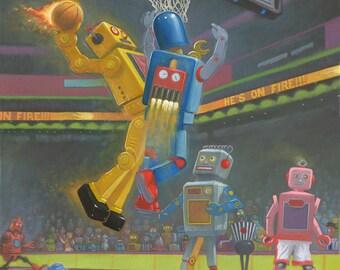 Basketbots Print