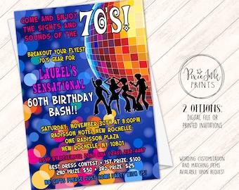 70s invitation Etsy