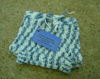Newborn Baby Boy's Wool Shortie Soaker Diaper Cover - Clouds 493