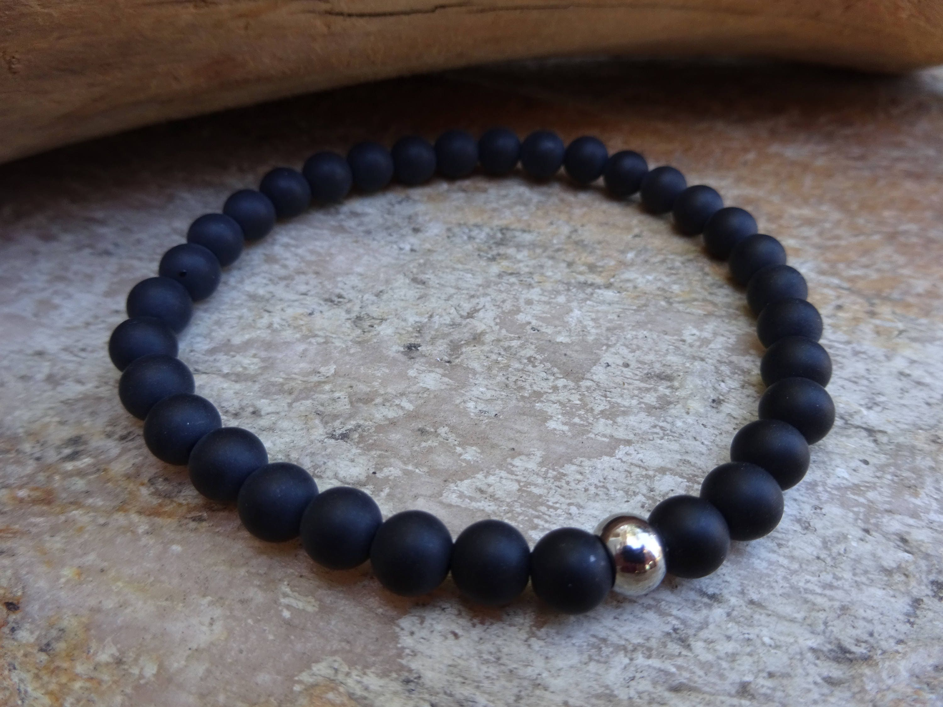 stone store round beads eye bracelet mala black fashion yoga buddha tiger onyx gold product bracelets bead matte natural