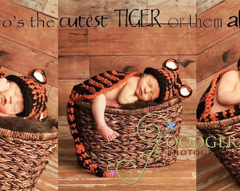 Tiger Cuddle Critter Cape Set Newborn Photography Prop
