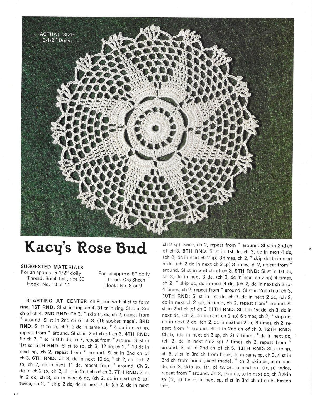 Vintage Crochet Doilies Patterns, Thread Crochet Patterns, 12 ...