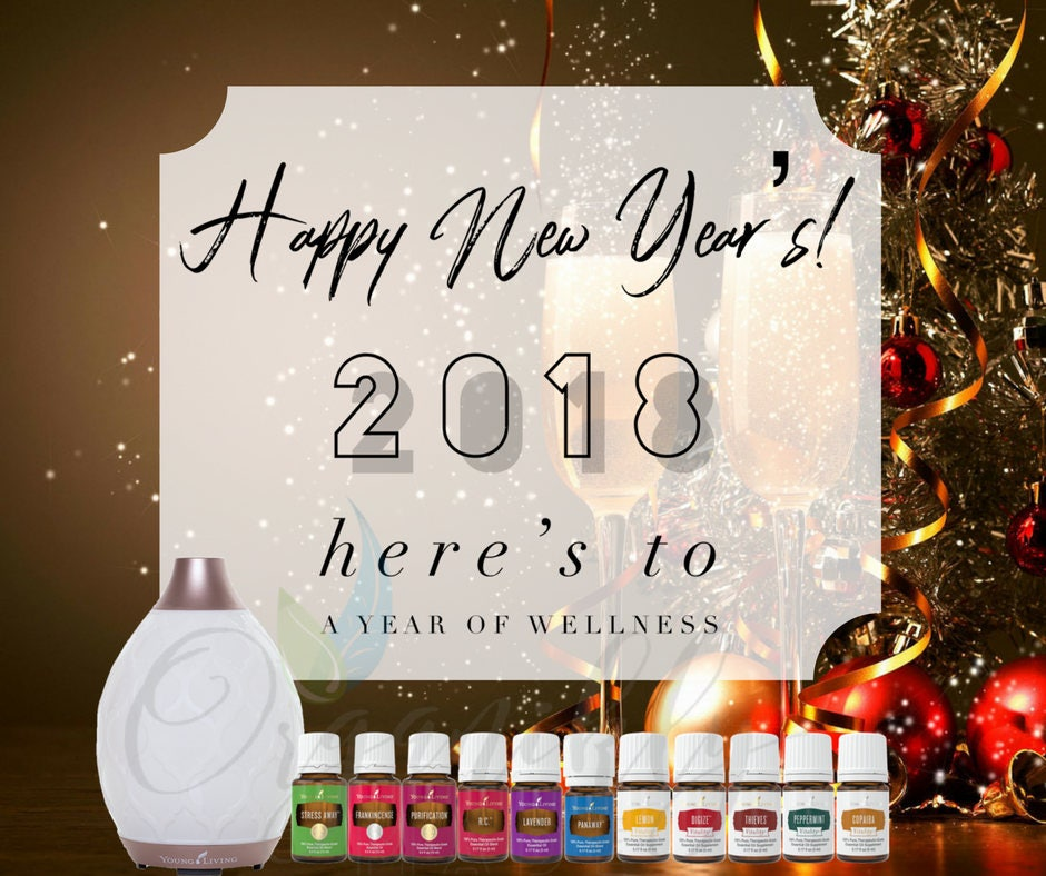 Young Living Essential Oils New Years Graphics Flyer Business