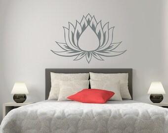 Lotus Wall Decal Flower Vinyl Sticker Yoga Gym Design Interior Home Living Room Decor Art Murals L622