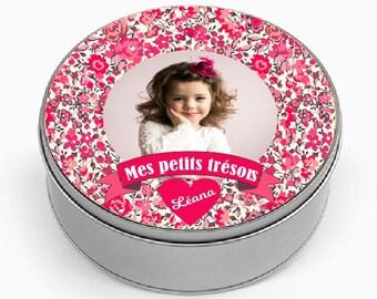 "Custom METAL box ""My little treasures"""