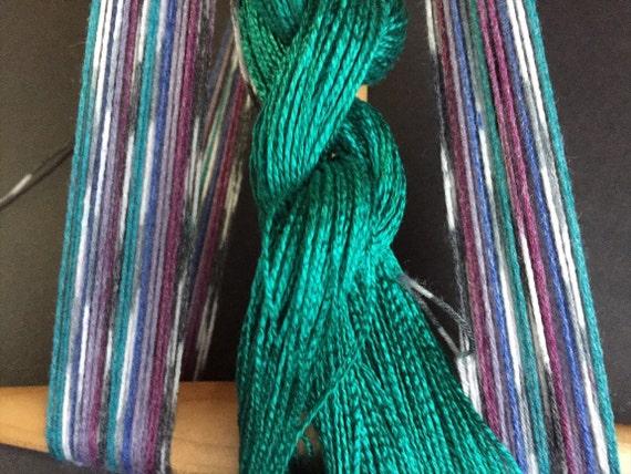 Kit para ricos Jade bufanda, telar de lizo rígido, telar de piso ...