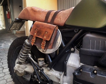 Motorcycle gear bag hand-stitched/Tool bag for bike completely hand-stitched