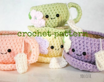 CROCHET PATTERN-Tea Cup and Saucer