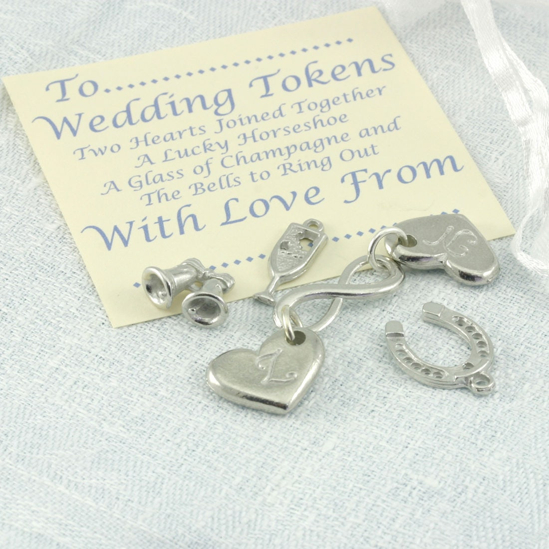 Wedding Token Gift, Personalised Charm Keepsakes, Gift for Bride and ...