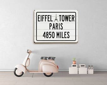 Paris Eiffel Tower Decor, French Decor Eiffel Tower Art, Travel Sign Wooden Wall Sign, Paris Decor Bedroom, French Wall Art Eiffel Tower