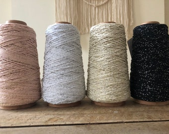 Big coil of cotton cord in 1 mm