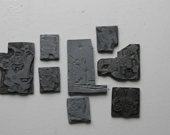 Holiday Printing Press Stamps