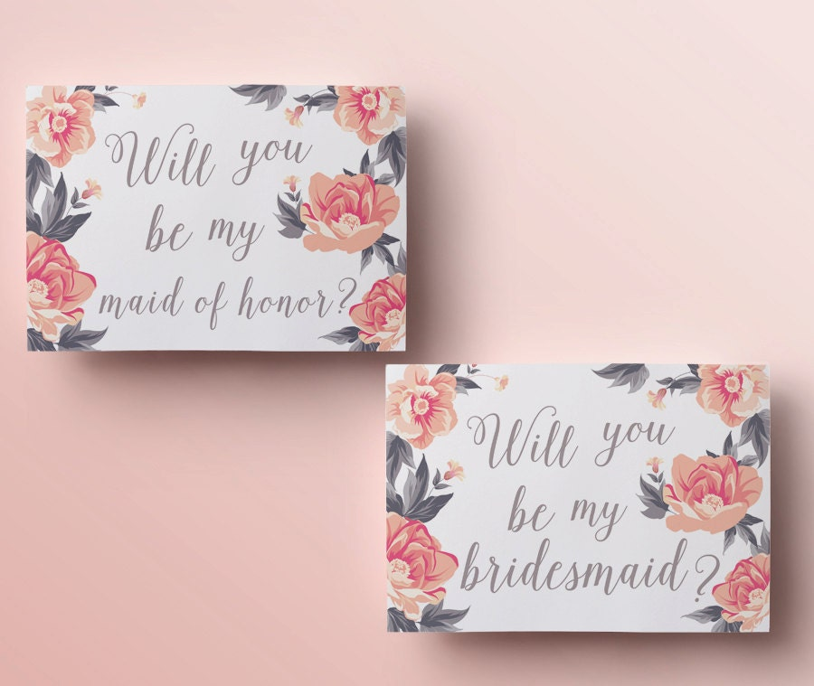 It is a picture of Punchy Free Printable Bridesmaid Proposal
