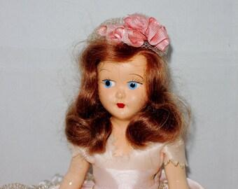 Small Vintage Plastic Bridesmaid Doll