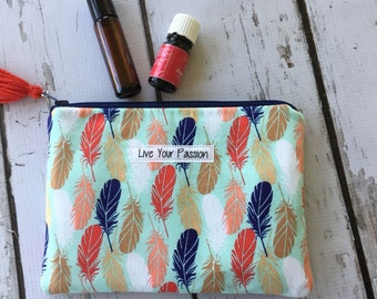 New Live Your Passion Essential Oil Bag, Roller bottle or 5ml holds 6-8)
