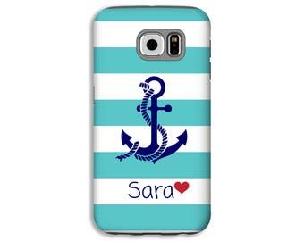 Nautical Samsung Galaxy S8 case, anchor Galaxy S8 Pluse case, Galaxy Note 8 case, nautical Samsung case, Galaxy S7 Edge/S6 Edge case