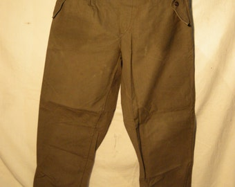 Vintage 1980's Military Green Canvas Pants