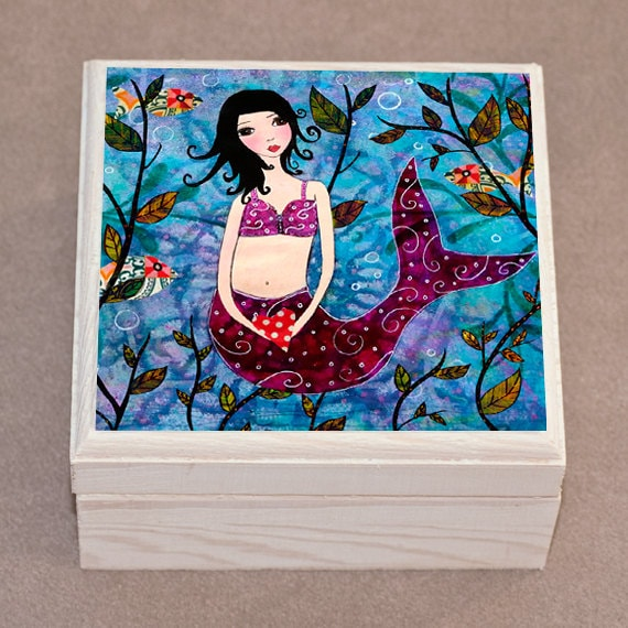 Little Mermaid Jewelry Box Trinket Box Jewelry Organizer