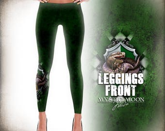 Leggings / Cunning /  Potter Gift Art / HP Snake /Nerd Gifts / Nerdy / Wizard / Witch / Magic / Magical / Wizardry / School of S / M/ L / XL