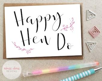 Happy Hen Do Card - Hen Party Card