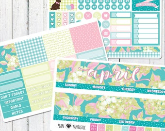 Monthly Planner Sticker Kit - April Planner Stickers - for use with ERIN CONDREN LIFEPLANNER™