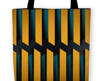 Modern Deco SKYTOWER Carryall Tote Bag
