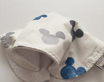 custom baby lovey/blanket ~ watercolor mickey ears ~ chic couture ~ baby accessories ~ baby lovey/blanket from lillybelle designs