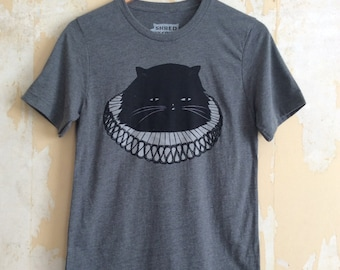 Cat T-Shirt Elizabethan Cat Unisex Fit T-Shirt, Gray Heather Cat T-Shirt