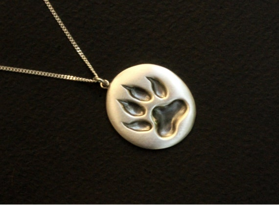 Paws jewelry, Cat paw necklace, animal paws, cat foot print, animal jewelry, cat keepers sign, cat lovers jewelry sterling silver handmade