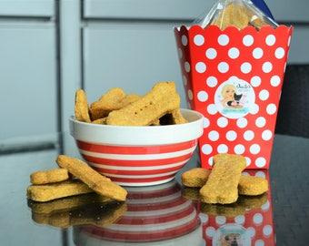 Dante's Peanut Butter & Pumpkin Dog Bones/ Organic Dog Treats /Dog Biscuits /Dog Treats /Dog Cookies /Dog Bakery /Dog Birthday