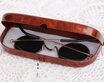 Vintge Soviet case for glasses Brown Eyeglasses Case Box glasses Retro Glasses Case Plastic glass Case For Eyeglasses Eyeglass holder