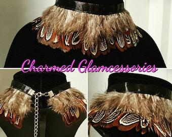 Native feather choker