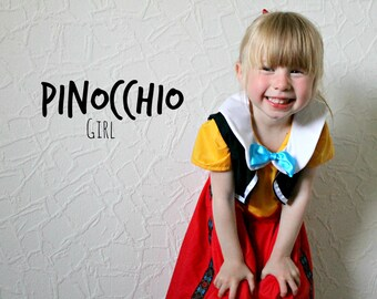 Pinocchio Girl Outfit - Disney Inspired Dress and Waistcoat