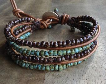 Bohemian bracelet boho chic bracelet boho bracelet hippie womens jewelry boho chic jewelry gift for her beaded bracelet layered