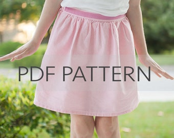 Gathered Skirt PDF, sewing pattern, girls easy pattern, pdf pattern, girls skirt pdf, little girls pattern, pdf sewing, toddler skirt pdf
