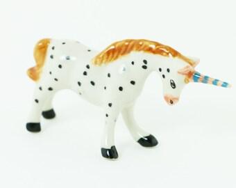 Miniature Unicorn - Porcelain Unicorn - Ceramic Porcelain Figurine