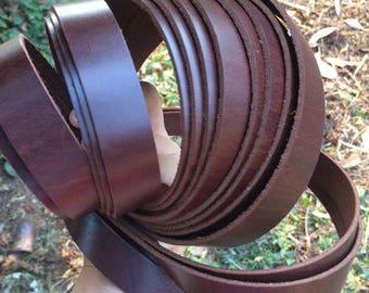 260cm Leather Strap, Genuine Leather Strap, Leather Handles, Bag Sraps, camera Straps, Belt Straps 2cm flat